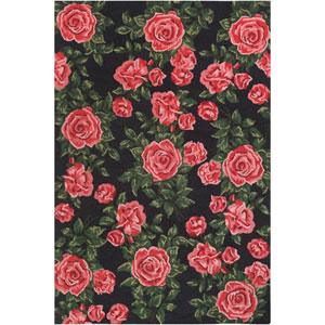 Botany Quinn Red Rectangular: 4 Ft. x 6 Ft. Rug