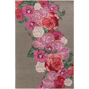 Botany Emilia Multicolor Pink Rectangular: 4 Ft. x 6 Ft. Rug