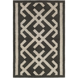 Congo Lynnie Black and Beige Rectangular: 2 Ft. x 3 Ft. Rug