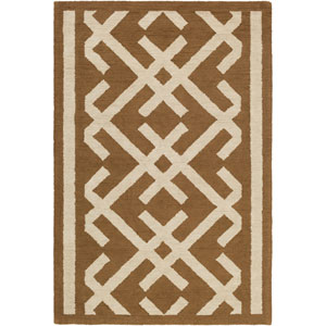 Congo Lynnie Brown and Beige Rectangular: 2 Ft. x 3 Ft. Rug