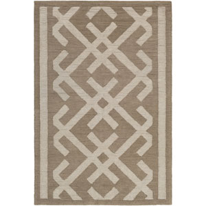 Congo Lynnie Taupe and Beige Rectangular: 2 Ft. x 3 Ft. Rug