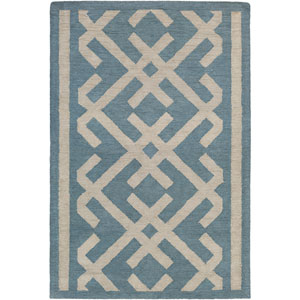 Congo Lynnie Blue and Beige Rectangular: 2 Ft. x 3 Ft. Rug