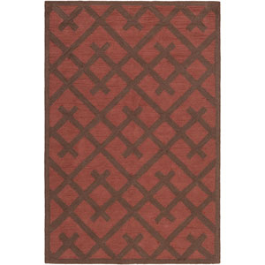 Congo Adrienne Red and Brown Rectangular: 2 Ft. x 3 Ft. Rug