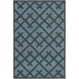 Congo Adrienne Navy and Light Blue Rectangular: 2 Ft. x 3 Ft. Rug