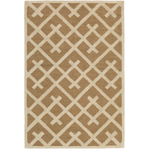 Congo Adrienne Taupe and Beige Rectangular: 2 Ft. x 3 Ft. Rug