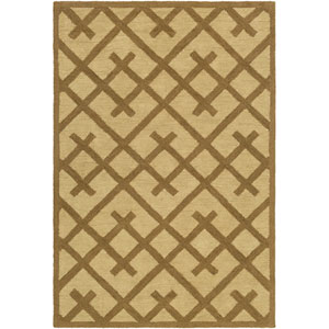 Congo Adrienne Brown and Beige Rectangular: 2 Ft. x 3 Ft. Rug