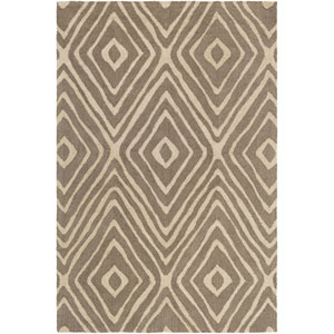 Congo Ella Taupe and Beige Rectangular: 2 Ft. x 3 Ft. Rug