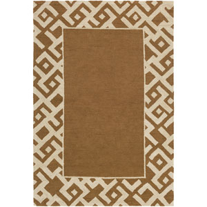 Congo Carson Taupe and Beige Rectangular: 2 Ft. x 3 Ft. Rug