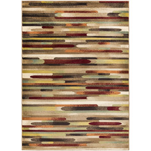 Crete Jade Multicolor and Red Rectangular: 2 Ft. x 3 Ft. Rug
