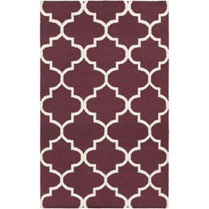 York Mallory Purple and White Rectangular: 9 Ft x 12 Ft Rug