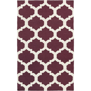 York Harlow Purple and White Rectangular: 9 Ft x 12 Ft Rug