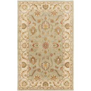 Oxford Isabelle Sage and Beige Rectangular: 6 Ft x 9 Ft Rug
