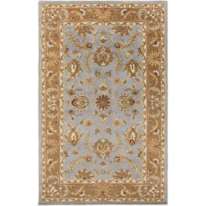Oxford Isabelle Light Blue and Brown Rectangular: 2 Ft x 3 Ft Rug