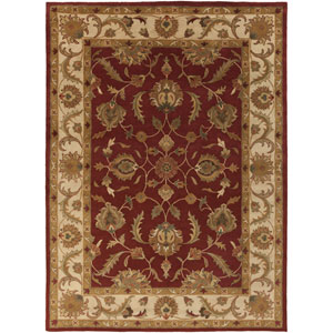 Oxford Isabelle Red and Beige Rectangular: 8 Ft x 11 Ft Rug