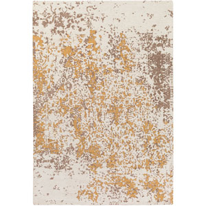 Egypt Lara Beige and Gold Rectangular: 2 Ft. x 3 Ft. Area Rug