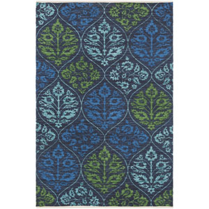 Elaine Luke Blue Rectangular: 2 Ft. x 3 Ft. Rug