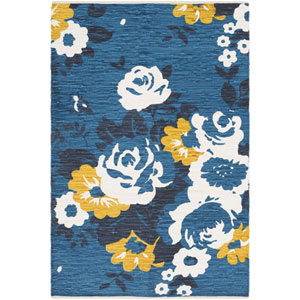 Elaine Carter Blue Rectangular: 2 Ft. x 3 Ft. Rug