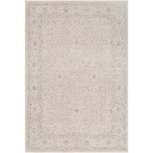Ephesus Orchard Light Blue and Taupe Rectangular: 2 Ft. x 3 Ft. Rug