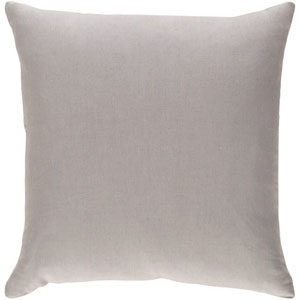 Ethiopia Cape Town Light Gray 18 x 18 In. Pillow with Down Fill