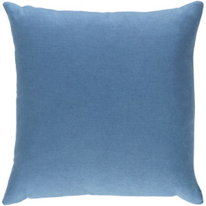 Ethiopia Cape Town Denim Blue 18 x 18 In. Pillow with Poly Fill