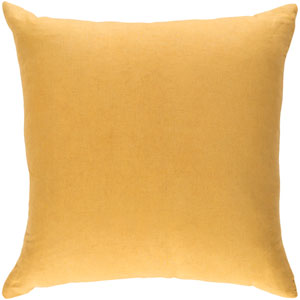 Ethiopia Cape Town Light Yellow 18 x 18 In. Pillow with Poly Fill