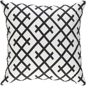 Ethiopia Kenya 18-Inch Black and White Pillow Cover