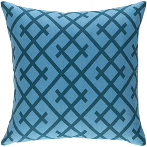 Ethiopia Kenya 18-Inch Denim and Slate Pillow Cover