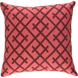 Ethiopia Kenya 18-Inch Terra Cotta and Burgundy Pillow Cover