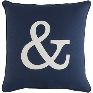 Glyph Ampersand 18-Inch Pillow Cover and Down Insert
