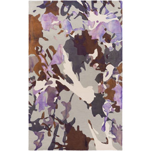 Geology Lucas Purple Rectangular: 4 Ft. x 6 Ft. Rug