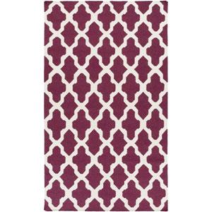 York Olivia Purple and White Rectangular: 3 Ft x 5 Ft Rug