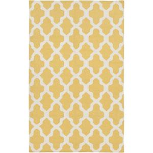 York Olivia Yellow and White Rectangular: 2 Ft x 3 Ft Rug