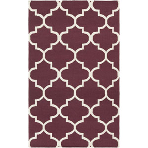 York Mallory Purple and White Rectangular: 4 Ft x 6 Ft Rug