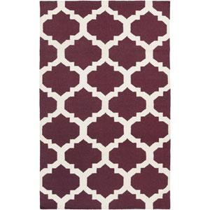 York Harlow Purple and White Rectangular: 3 Ft x 5 Ft Rug