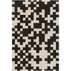 Hilda Beatrix Black and White Rectangular: 5 Ft. x 7 Ft. 6-Inch Area Rug