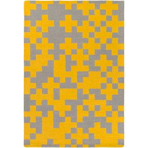 Hilda Beatrix Yellow and Gray Rectangular: 5 Ft. x 7 Ft. 6-Inch Area Rug