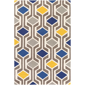 Hilda Gisele Blue and Gray Multicolor Rectangular: 2 Ft. x 3 Ft. Area Rug