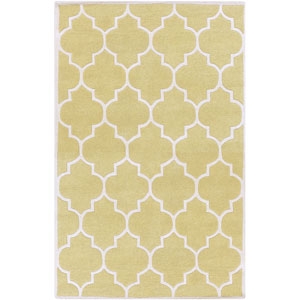 Transit Piper Gold and White Rectangular: 6 Ft x 9 Ft Rug
