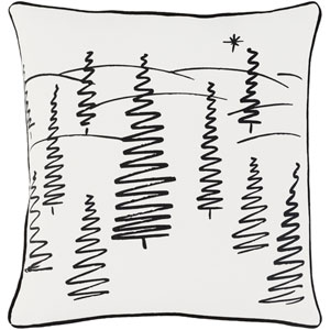 Holiday Evergreen 18-Inch Pillow Cover and Down Insert