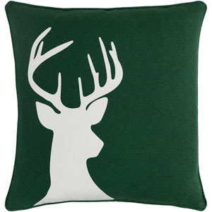 Holiday Deer 18-Inch Pillow Cover and Poly Insert