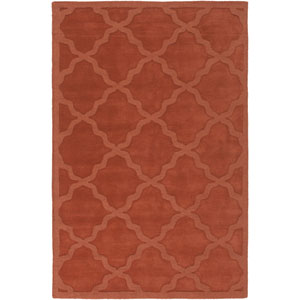 Central Park Abbey Rust Rectangular: 3 Ft x 5 Ft Rug