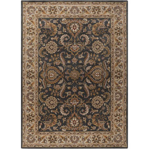 Middleton Georgia Charcoal and Ivory Rectangular: 2 Ft x 3 Ft Rug