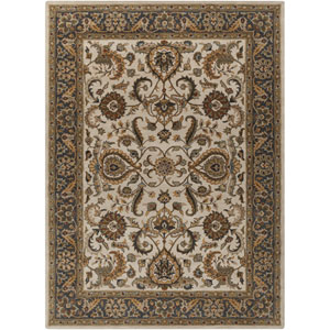 Middleton Georgia Ivory and Charcoal Rectangular: 2 Ft x 3 Ft Rug