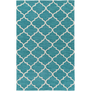 Holden Finley Teal and Ivory Rectangular: 5 Ft x 7 Ft 6 In Rug