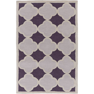 Holden Maisie Purple and Gray Rectangular: 5 Ft x 7 Ft 6 In Rug