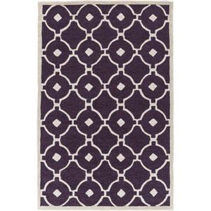 Holden Hazel Purple and Ivory Rectangular: 5 Ft x 7 Ft 6 In Rug