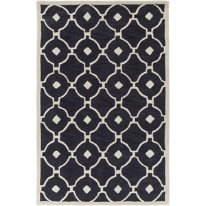 Holden Hazel Charcoal and Ivory Rectangular: 5 Ft x 7 Ft 6 In Rug
