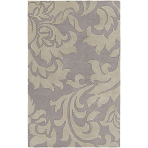Lounge Heidi Silver and Gray Rectangular: 4 Ft. x 6 Ft. Area Rug