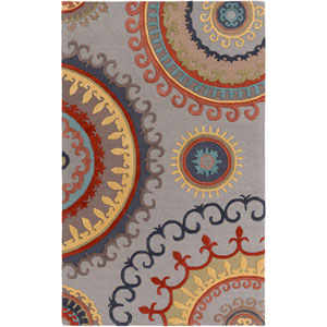 Lounge Alanna Gray and Multicolor Rectangular: 4 Ft. x 6 Ft. Area Rug