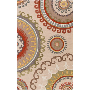 Lounge Alanna Ivory and Multicolor Rectangular: 4 Ft. x 6 Ft. Area Rug